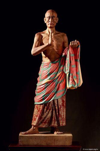 洛本木雕—噶瑪寺十六阿羅漢 第二尊 阿氏多尊者