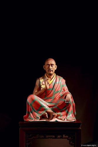 洛本木雕—噶瑪寺十六阿羅漢 第六尊 跋陀羅尊者