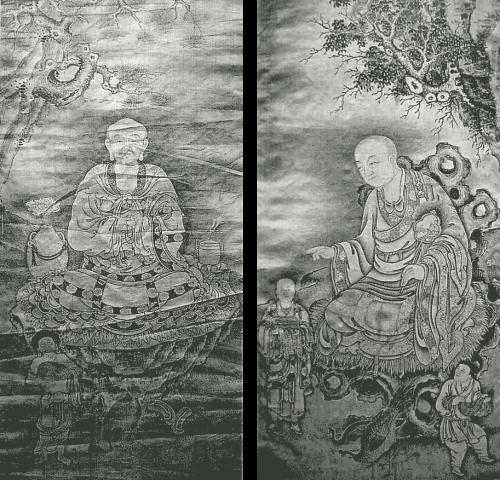 第十世噶瑪巴確英多傑 水墨羅漢