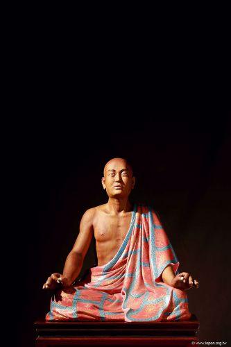 洛本木雕—噶瑪寺十六阿羅漢 第十一尊注荼半托迦尊者