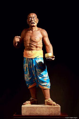 洛本木雕—噶瑪寺十六阿羅漢 第十二尊 賓度羅跋羅墮闍尊者