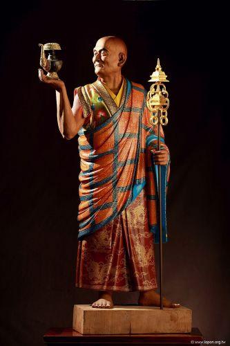 洛本木雕—噶瑪寺十六阿羅漢 第十四尊 那迦希尊者