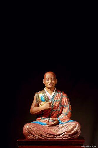 洛本木雕—噶瑪寺十六阿羅漢 第十五尊 蘇頻陀尊者